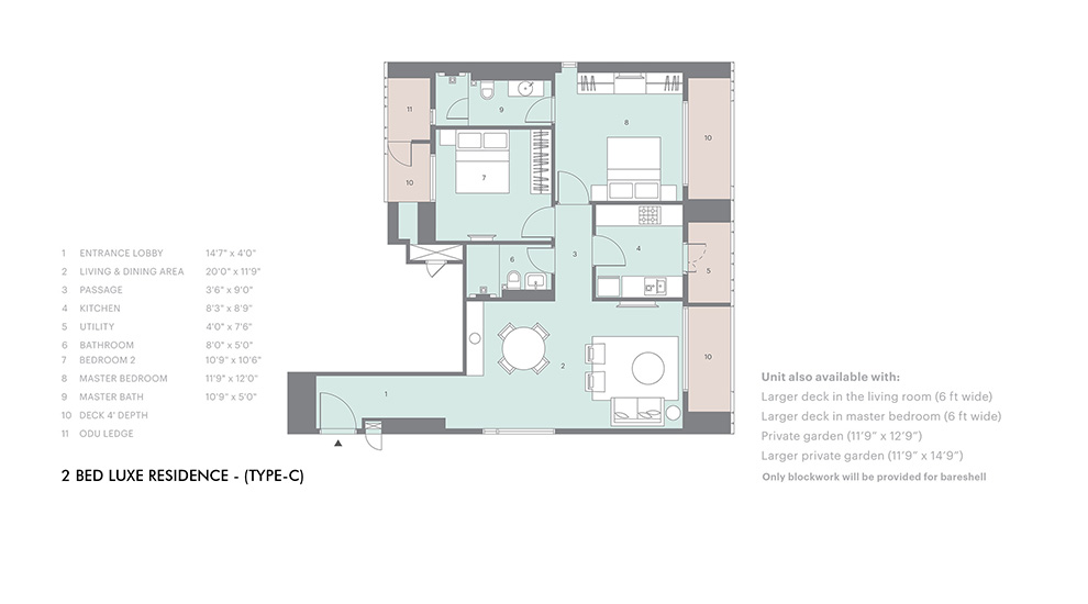 2 bed luxe type C