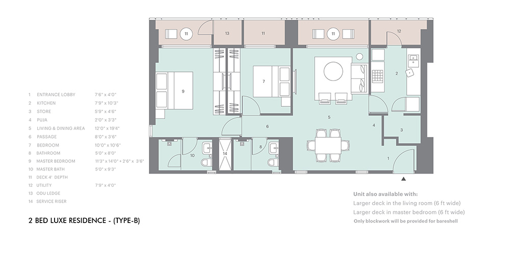 2 bed luxe type B