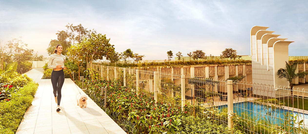 15 acres of open spaces – 3 times the size of Wankhede Ground