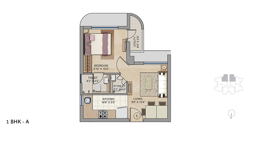 1 BHK A