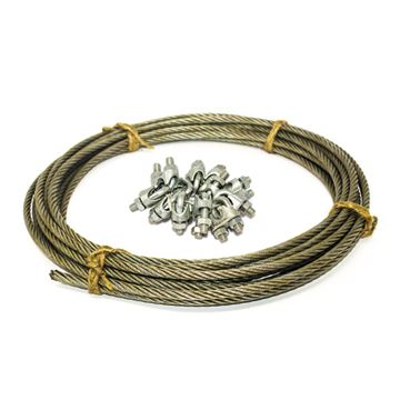Picture of WIRE ROPE WITH LOCK ASM (1 SET = 12 LOCK & 22 MTR ROPE)