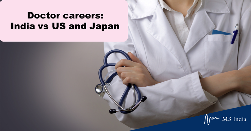 When do Indian, US, and Japanese doctors pick their career