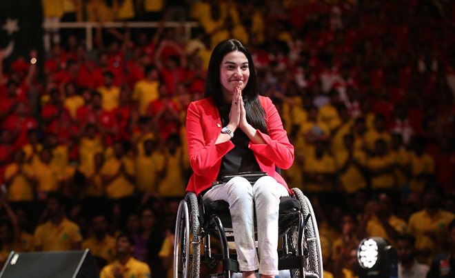Image result for muniba mazari speech
