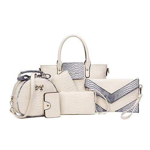 Image result for Powerpak Women Off White Set Of 6 Handbags