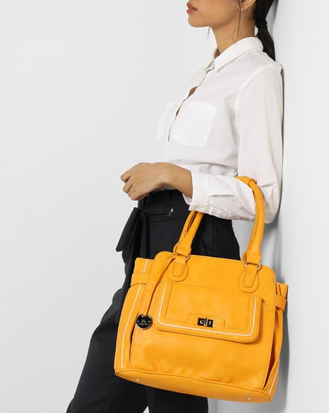 Image result for Diana Korr Women Yellow Handbag with a women