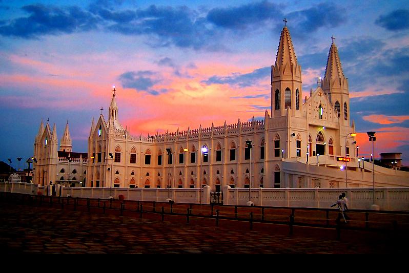 Image result for velankanni matha church images