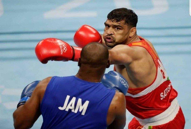 मुक्केबाज सतीश कुमार क्वार्टर फाइनल में विश्व चैम्पियन से हारकर बाहर,  माथे और ठोड़ी पर टांके लगवाकर उतरे थे मैदान में