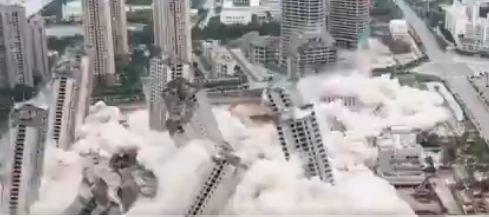 15 बहुमंजिला इमारतों को गिराने का वीडियो वायरल, महज 45 सेकंड में हुईं जमींदोज, देखें हैरान करने वाला वीडियो