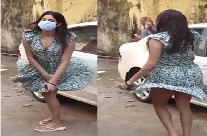 हवा के झोंके ने उड़ा दी जान्ह्वी कपूर की स्कर्ट.. ऐसे दिखीं बचाते.. वीडियो वायरल