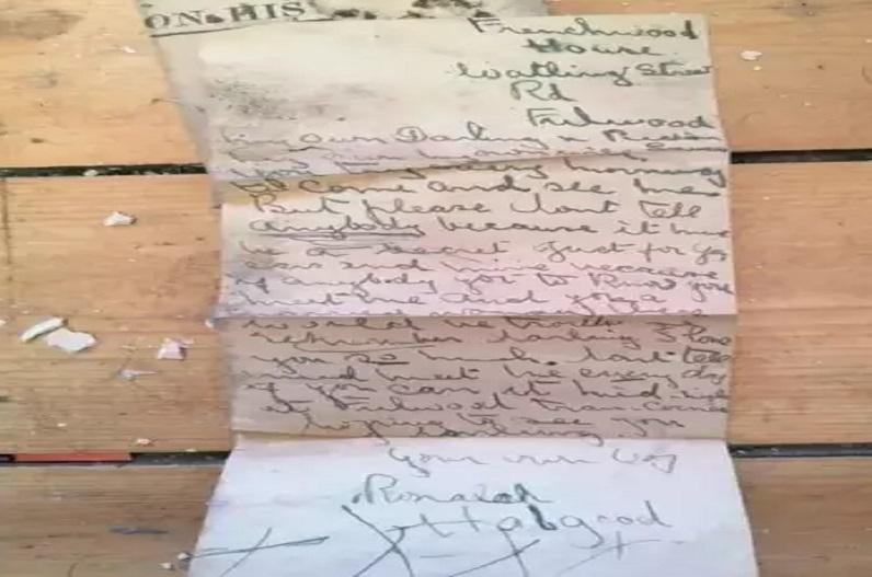 'मेरी जान, तुम रोज सुबह मुझसे मिलने की कोशिश किया करो… टूटी फर्श के नीचे मिला 100 साल पुराना लव लेटर, लिखी हुई ये बातें…