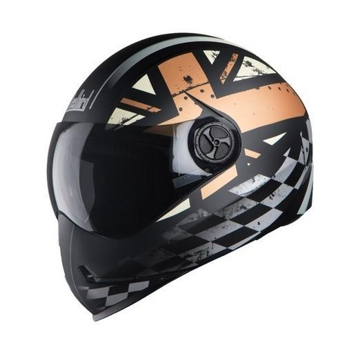 Black With Desert Storm Steelbird Sb-50 Adonis Ross Glossy Helmet.