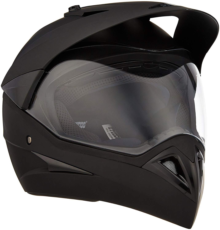 Studds Motocross Plain SUS_MVPFFH_MBLKL Full Face Helmet with Plain Visor.jpg