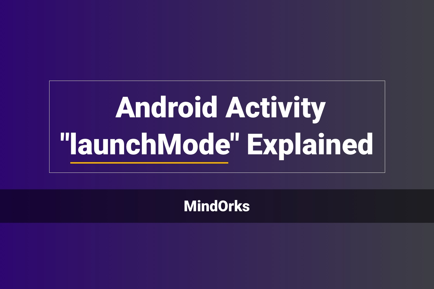 Banner Android Activity Launchmode Explained