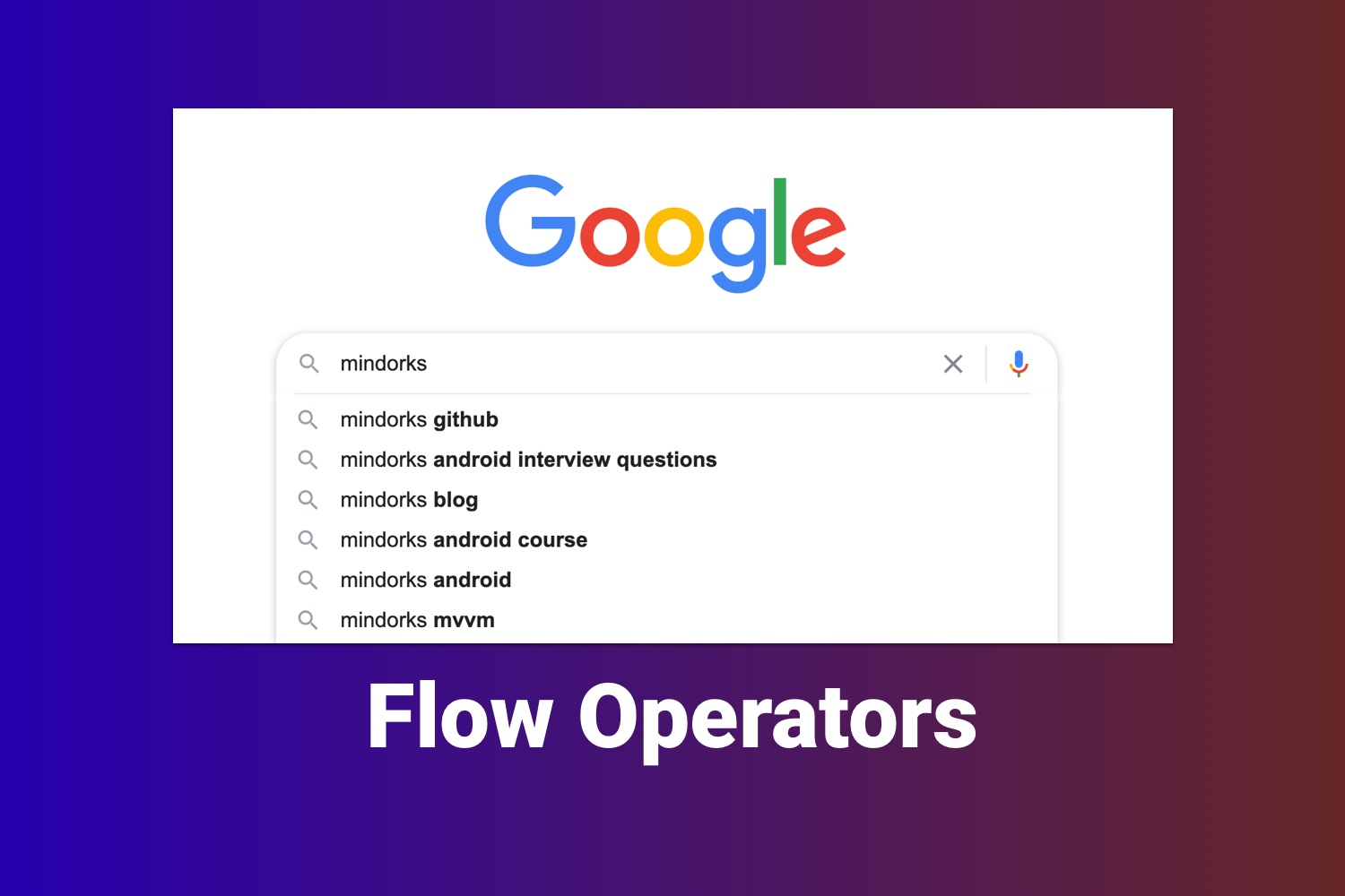 Implement Instant Search Using Kotlin Flow Operators