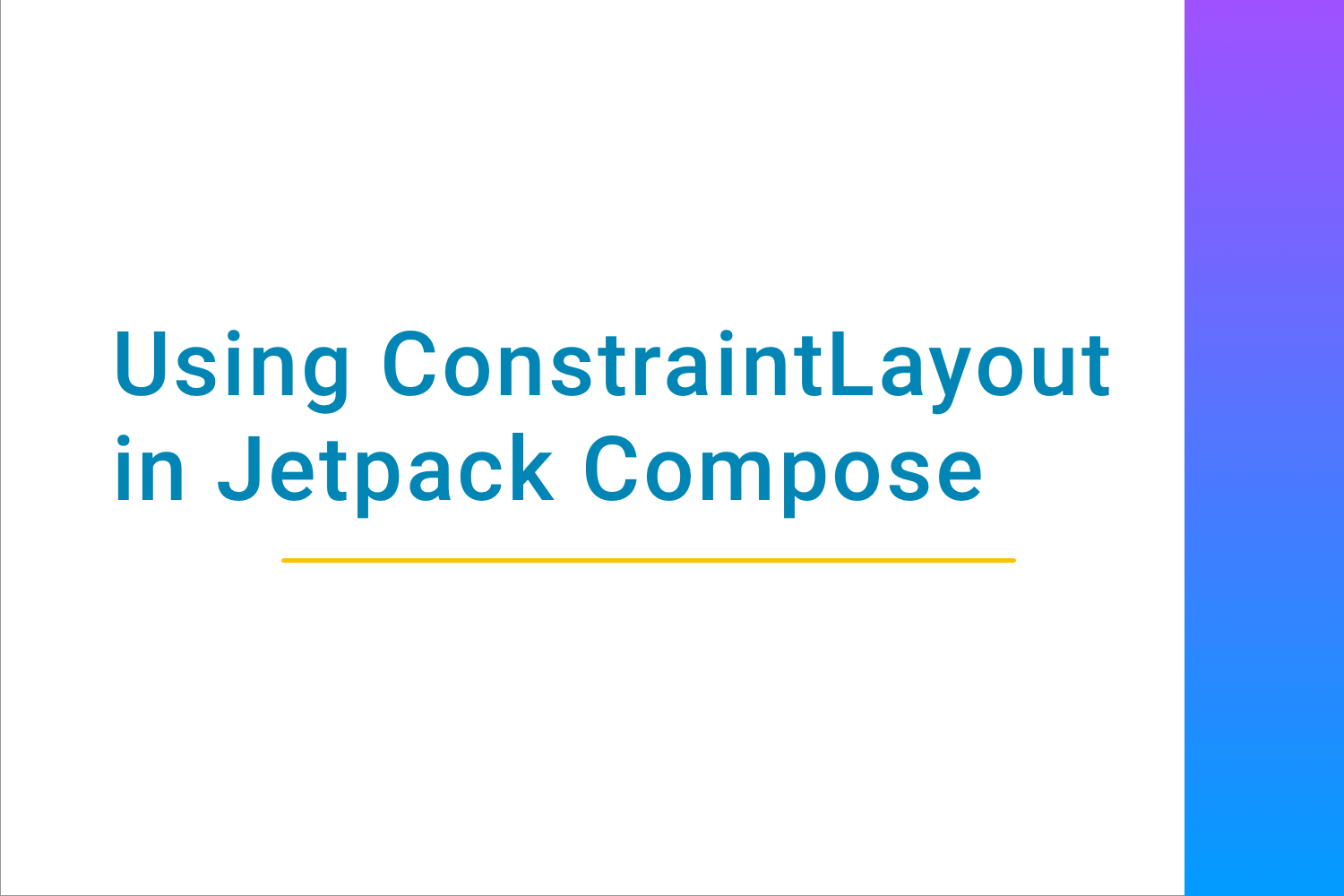 Using Constraint layout in Jetpack Compose