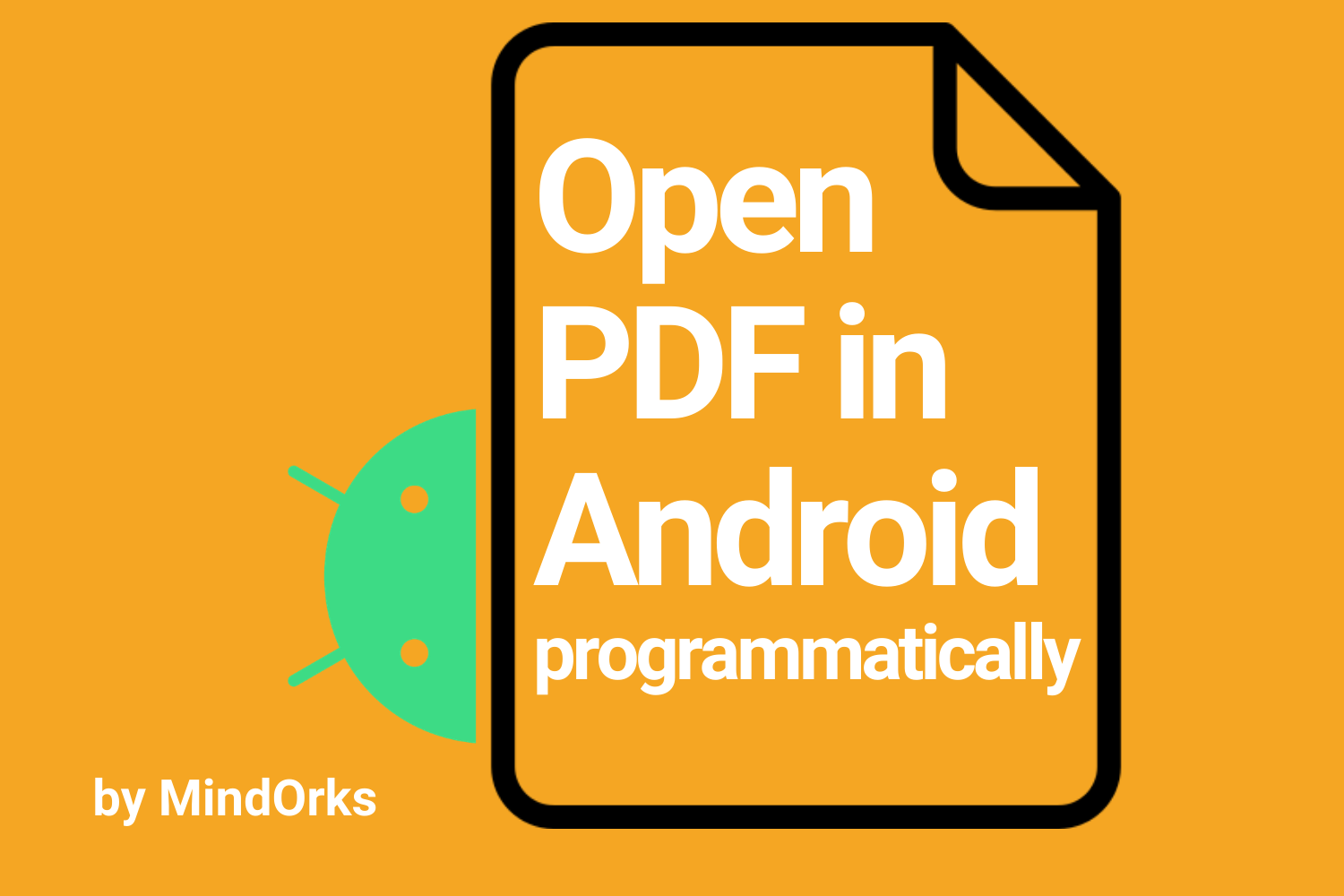 How To Open A Pdf File In Android Programmatically