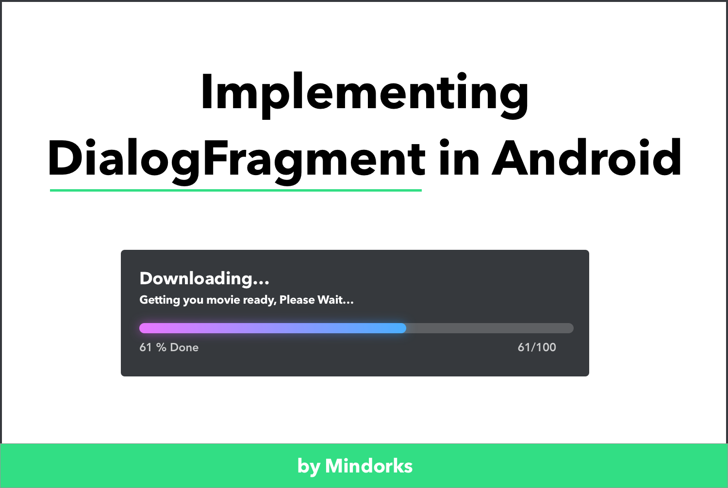 Implementing DialogFragment in Android