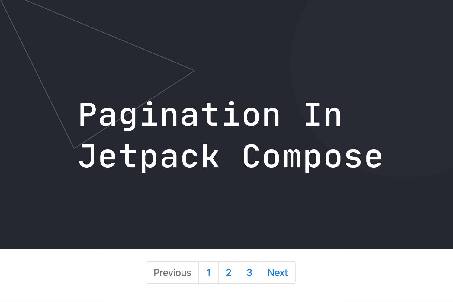 Pagination in Jetpack Compose