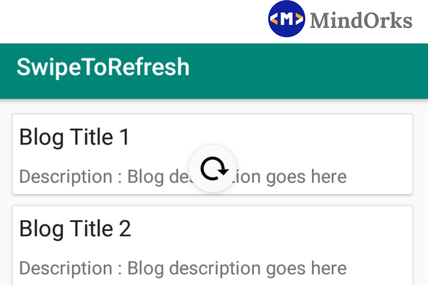 Using Swipe-to-refresh in Android Application