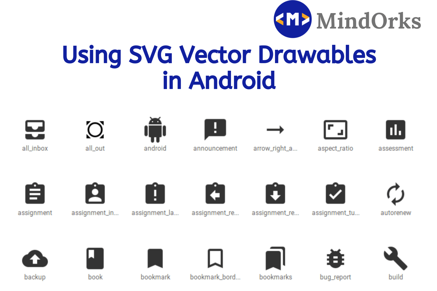 Using SVG Vector Drawables in Android