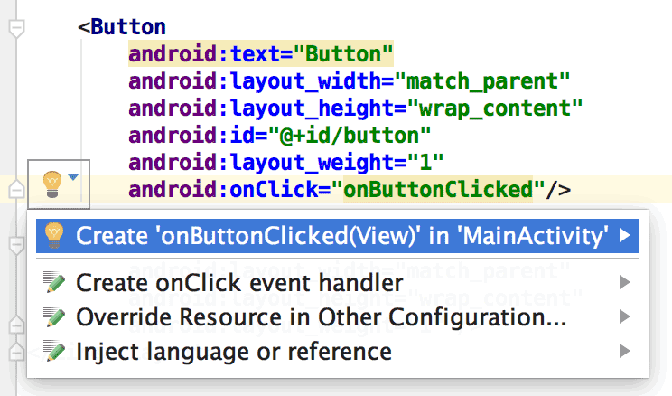 What is tools:context in Android layout files?