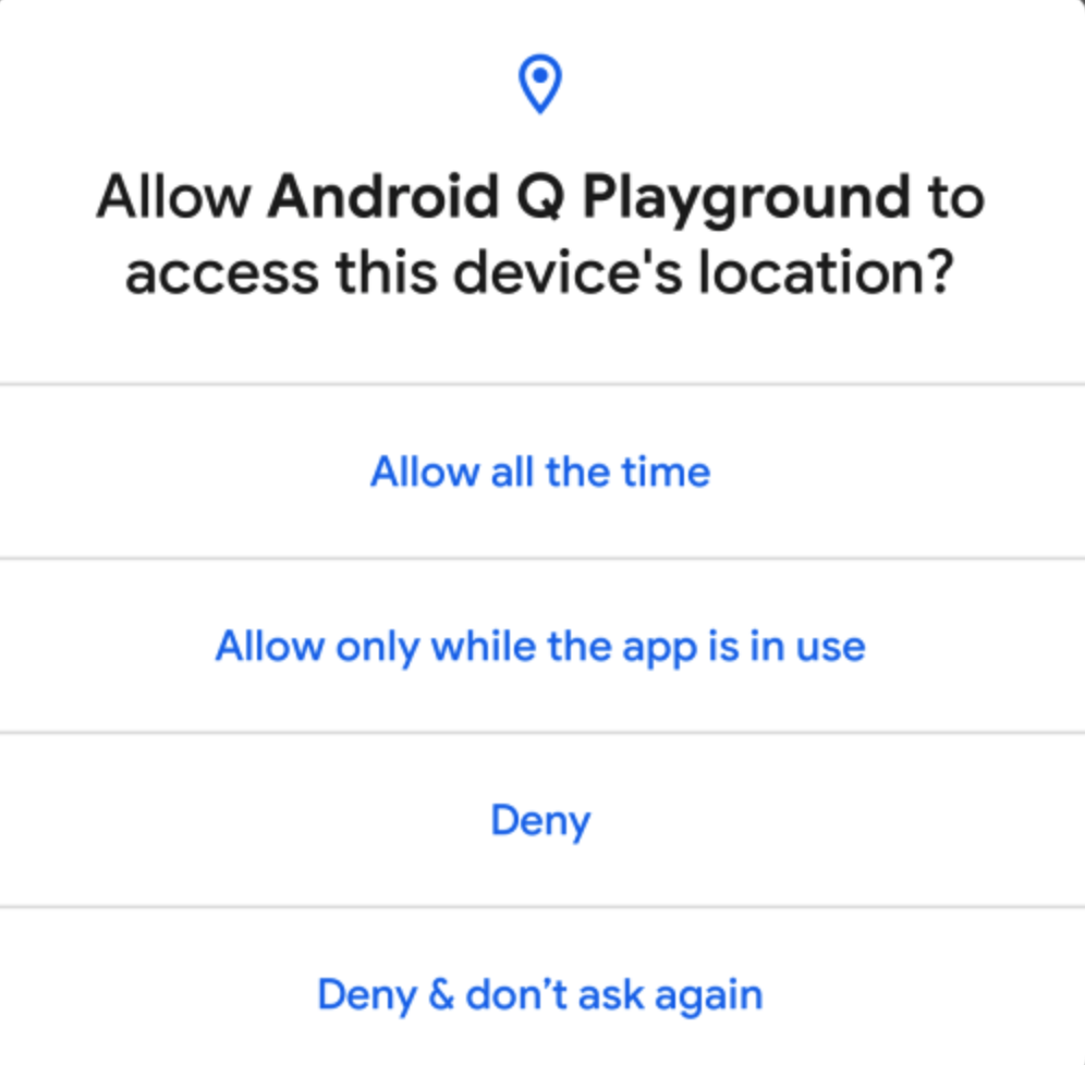 Understanding and Implementing Permission in Android Q