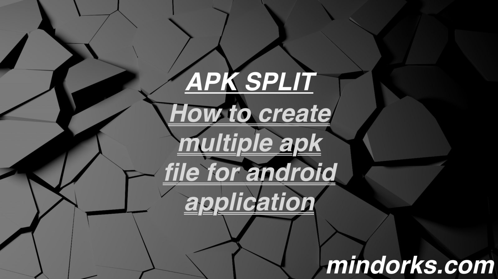 How to create multiple apk files for android application