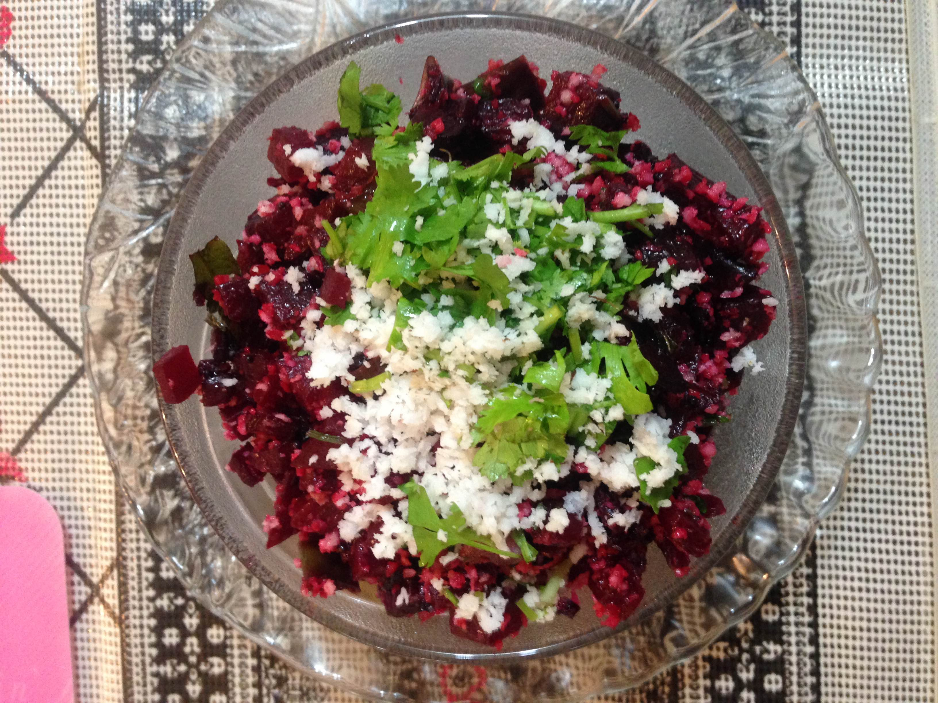 Beetroot Palya ( Beetroot Sabji or Beetroot Side dish for rice or chapati )
