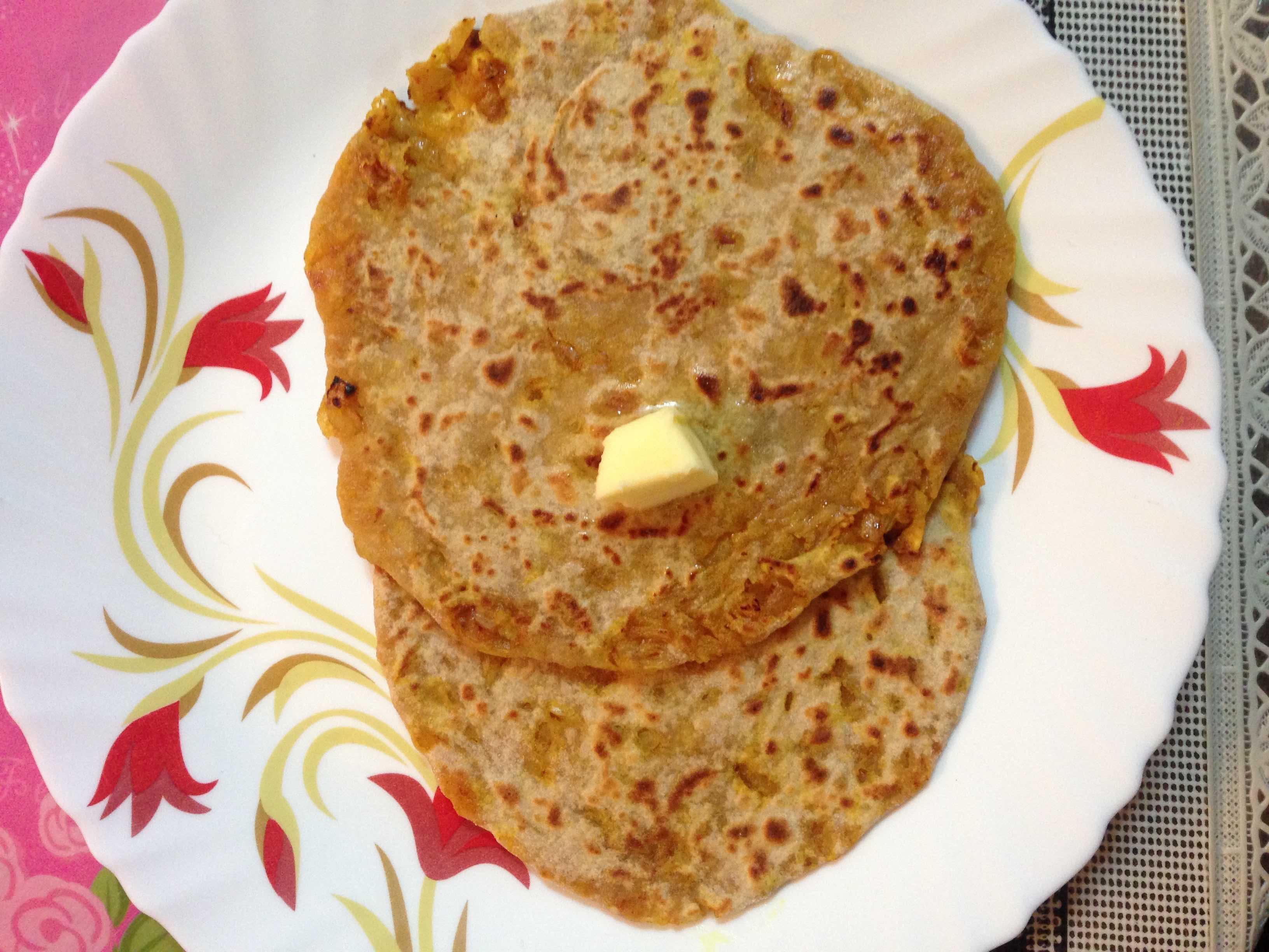 Onion Paratha ( Pyaaz Ka Paratha )