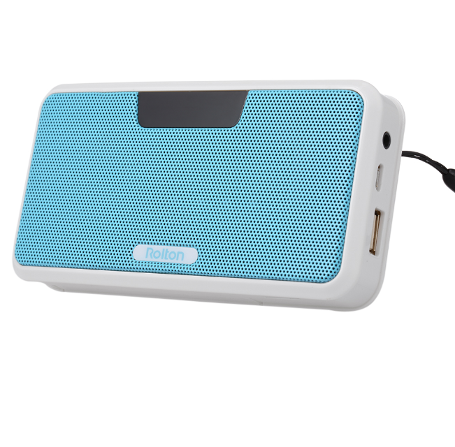 a9c10f4e149 Rolton E300 Wireless Bluetooth Speaker HiFi Stereo Music Player Portable  Digital FM Radio Emergency Power Bank w  LED Display Mic Support Hands-free  Record ...