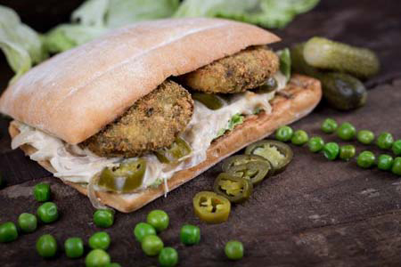 Peas Patty Sandwich