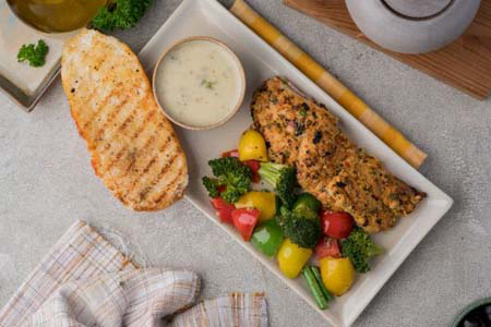 Grilled Fish With Lemon Butter Sauce