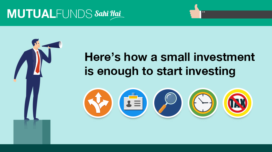 Won't I need a large amount to invest in Mutual Funds?