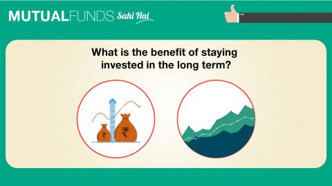 What is the benefit of staying invested in the long term?