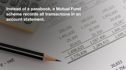 Do Mutual Funds issue a passbook?