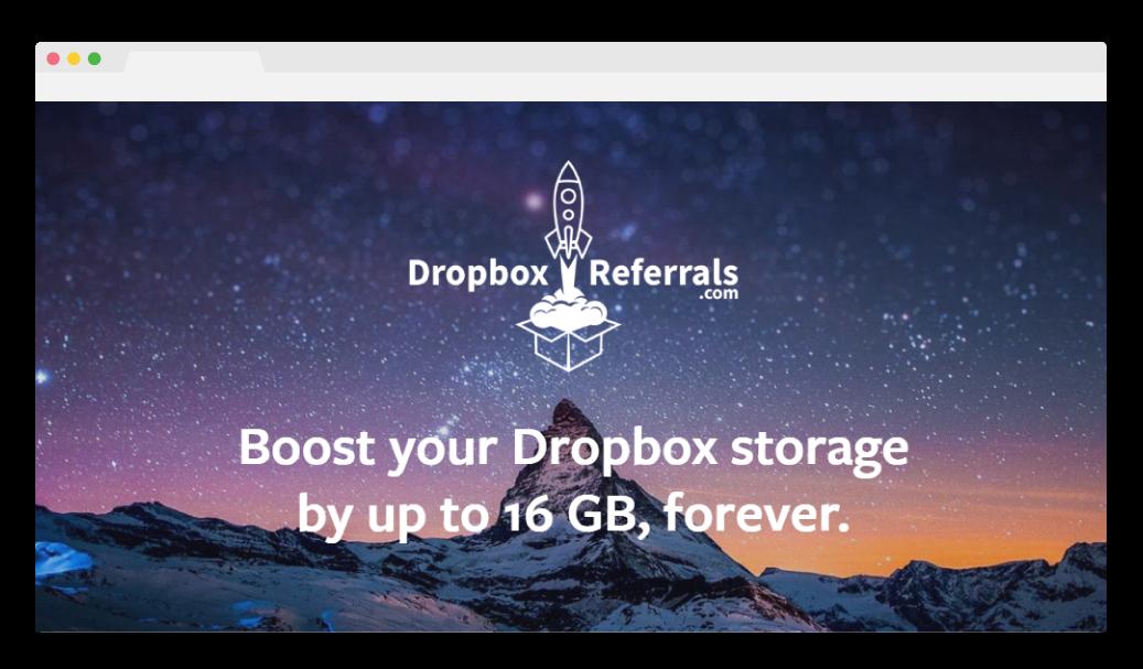 Dropbox referral campaign