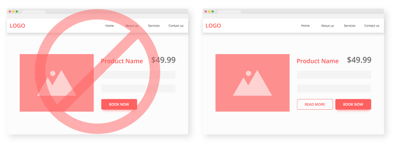Provide more info button on your product