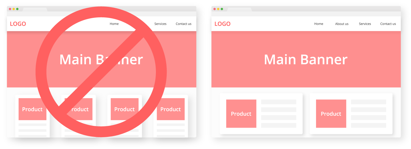 Decrease the number of products on homepage