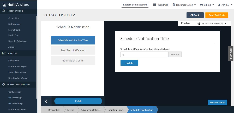 schedule push notification