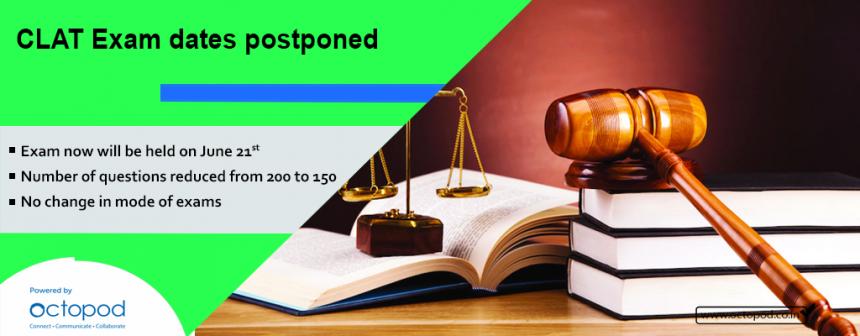 CLAT Exam dates postponed
