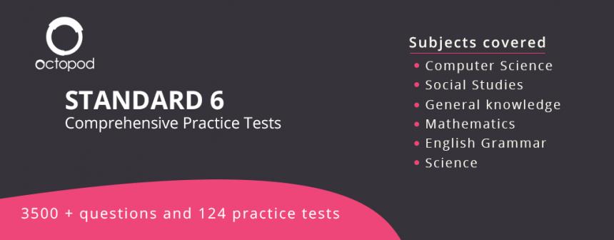 Standard 6 Comprehensive Tests