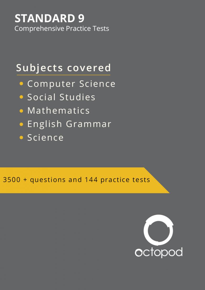Standard 9 Comprehensive Tests
