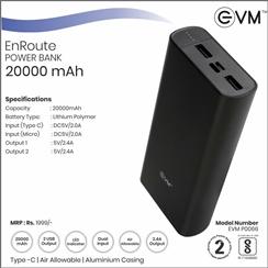 EVM EnRoute 20000mAh Dual...