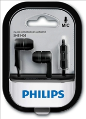 Philips SHE1405BK/94 In-Ear Headphone Headset With Mic