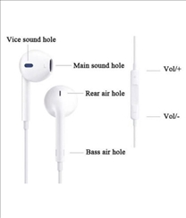 Champ Volume Control Super Bass In-ear Earphone