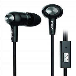 Philips Rich Bass in-Ear Earphones with Mic SHE1505BK