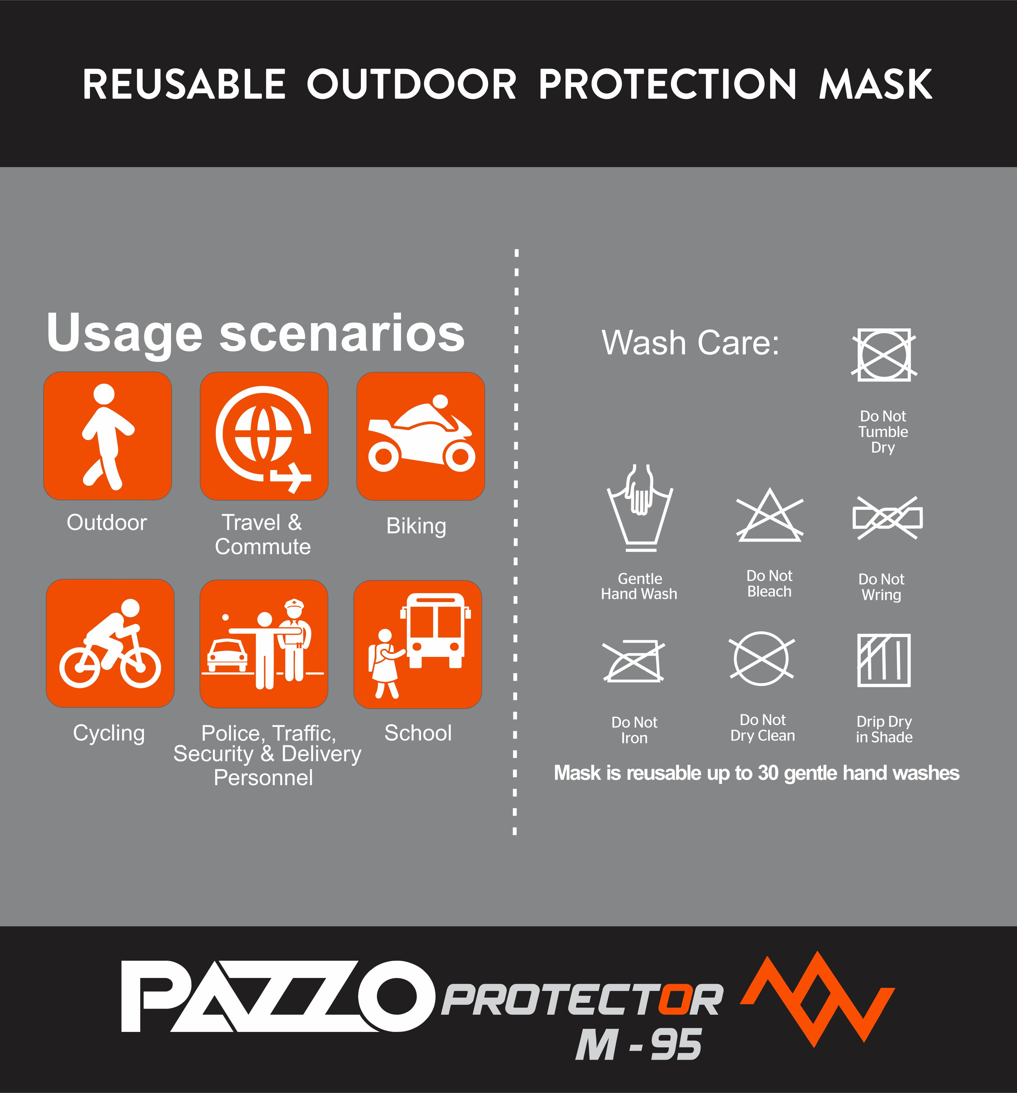 PAZZO M-95 Reusable Outdoor Mask (Large)