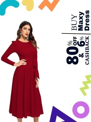 Amazon is offering 80% discount on Maxi dress also earn cashback upto 6% from flopoffer