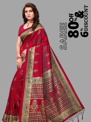 Amazon is offering 80% discount on paithani saree also earn cashback upto 6% from flopoffer
