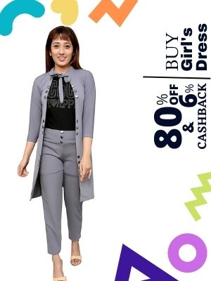 Buy beautiful girls dresses at upto 80% discount from Myntra and earn upto 6% extra cashback from flopoffer